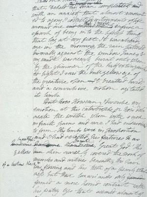 "Maunuskriptseite aus Mary Shelleys ""Frankenstein"", Quelle: Bodleian Library, University of Oxford; http://www.bodley.ox.ac.uk/dept/scwmss/frank2.html"