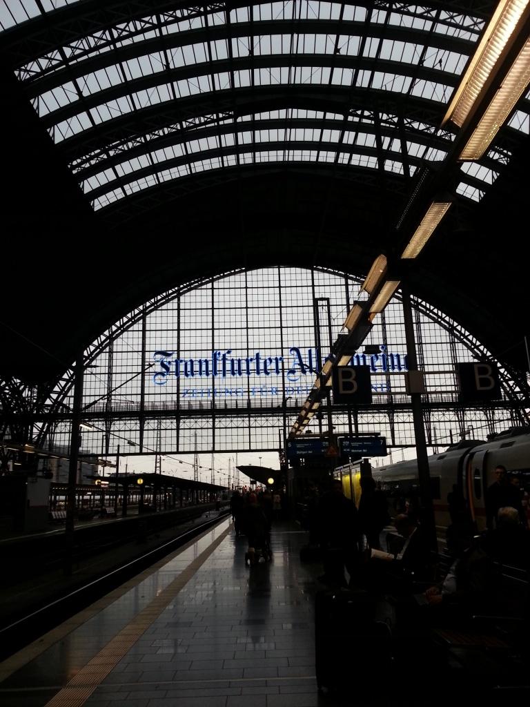 Hauptbahnhof Frankfurt am Main - Auf dem Weg zurück von der Frankfurter Buchmesse