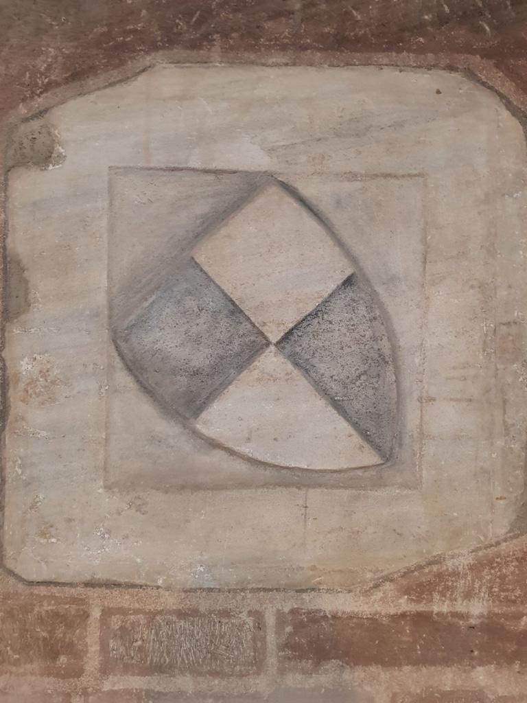 Wappen der Hohenzollern im nördlichen Seitenschiff