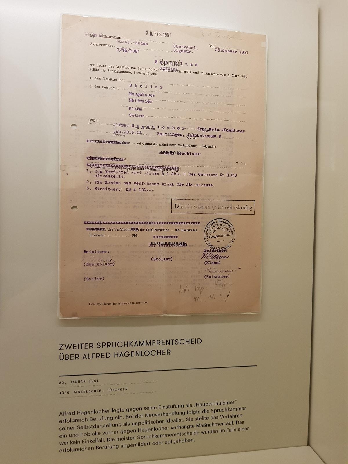 Spruchkammer vs Alfred Hagenlocher