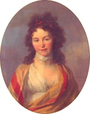Caroline Schelling, Porträt von Johann Friedrich August Tischbein