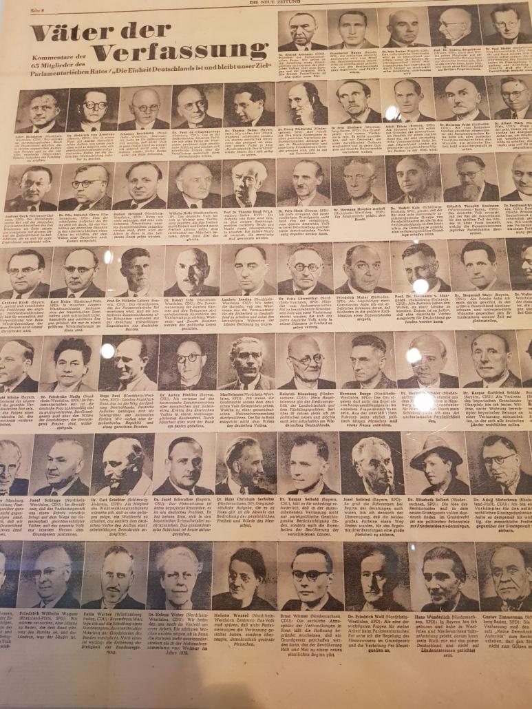 Die Mitglieder des nParlamentarischen Rates, aus: Die Neue Zeitung vom 25. September 1948
