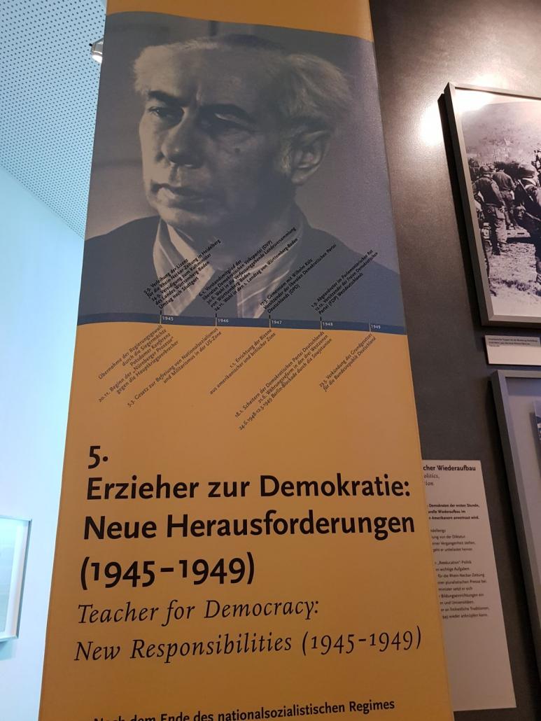Abteilung 5 der ständigen Ausstellung widmet sich dem Erzieher zur Demokratie