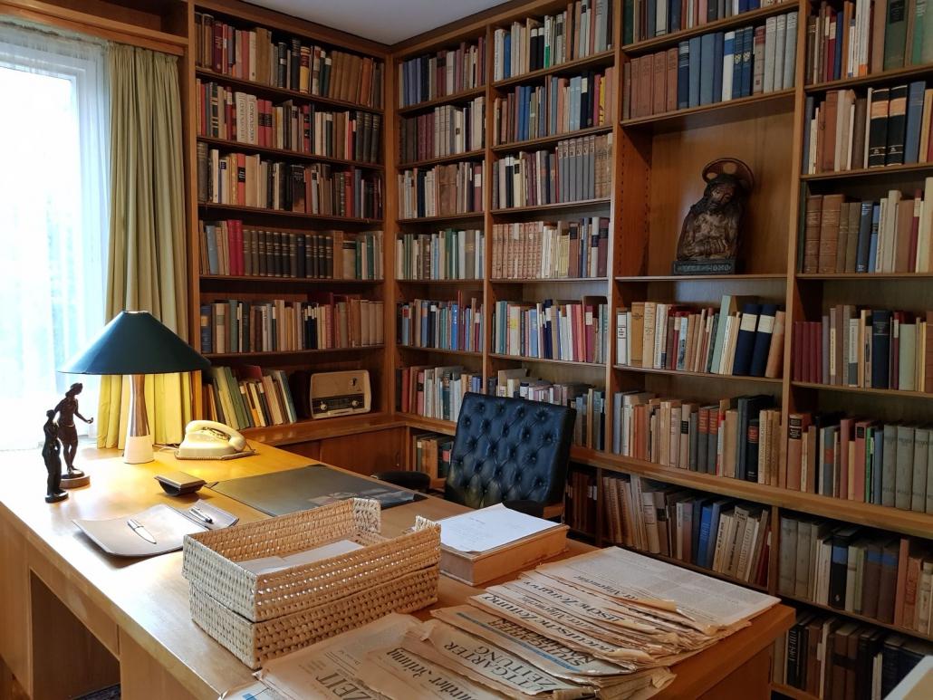 Arbeitszimmer - der letzte Schreibtisch von Theodor Heuss