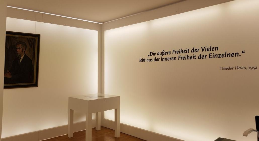 Gedenkraum im Theodor-Heuss-Haus