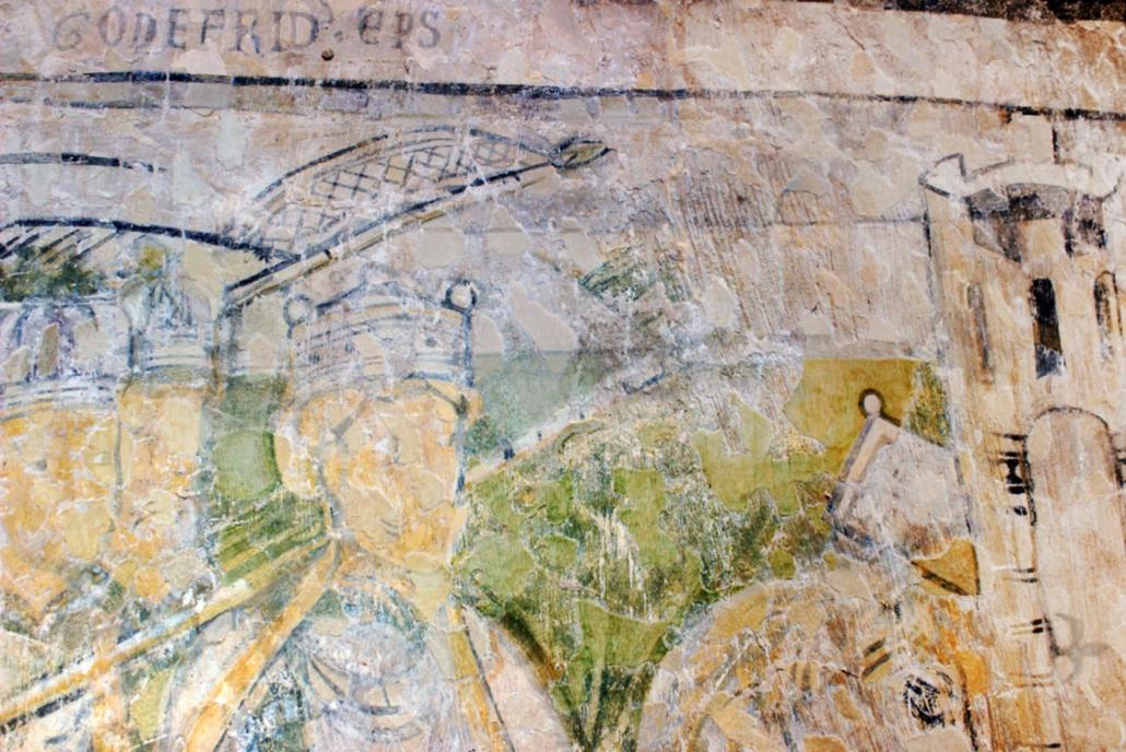 Burg Gamburg, Fresken mit dem Kopf von Barbarossa