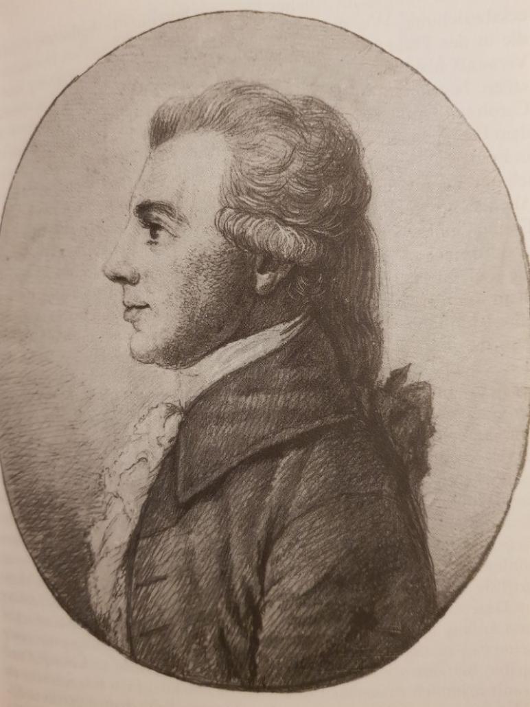 Ludwig Ferdinand Huber (1764-1804), Zeichnung von Dora Stock
