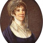 Therese Huber auf einer Miniatur von unbekannter Hand
