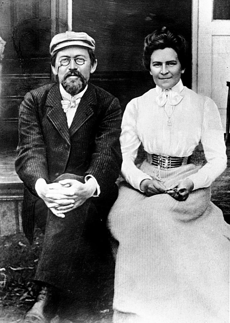 Anton Tschechow mit Olga Knipper kurz nach der Hochzeit 1901