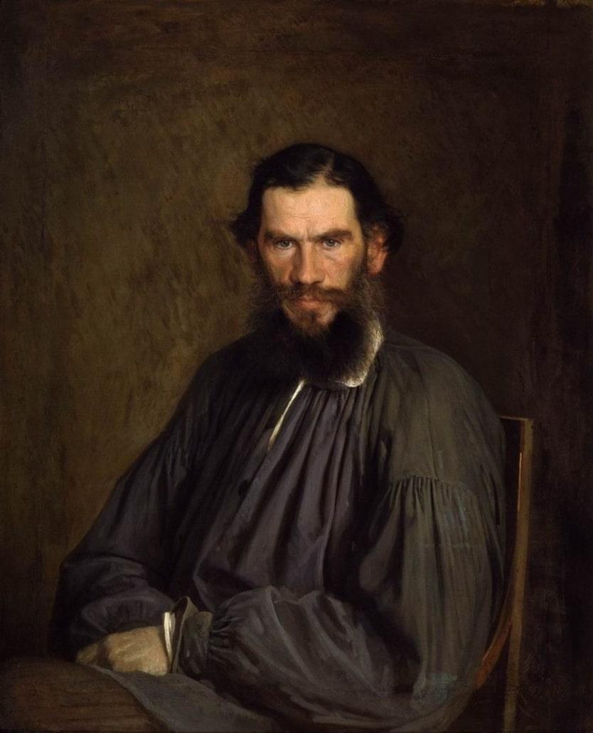 Lew Nikolajewitsch Graf Tolstoi, Porträt von Iwan Kramskoi, 1873