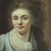 Ludovike_Simanowiz Selbstbildnis_mit_wehendem_Haar 1791